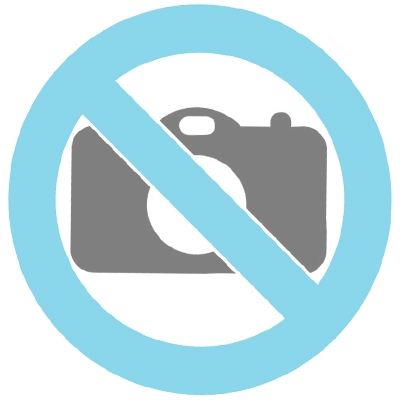Hartvormige rode mini urn van kristalglas